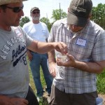 Hugo Desrochers & Daniel Sabourin learn about soil analysis and how to identify soil types - 2012 Spring Informational at Wind Dance Stable and Farm, Demorestville, hosted by Larry Roche.